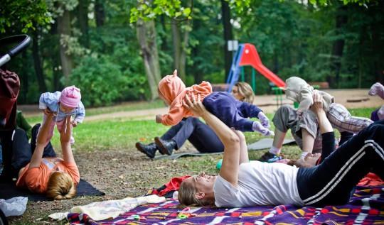Spacer Fitness w Parku Sołackim, fot. G. Krykwiński