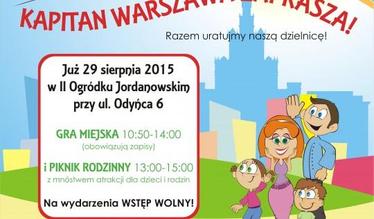 Gra Miejska z Kapitanem Warszawa na Mokotowie