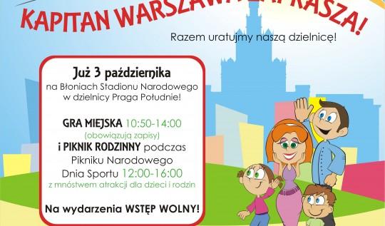 Kapitan Warszawa na pikniku w ramach Międzynarodowego Dnia Sportu