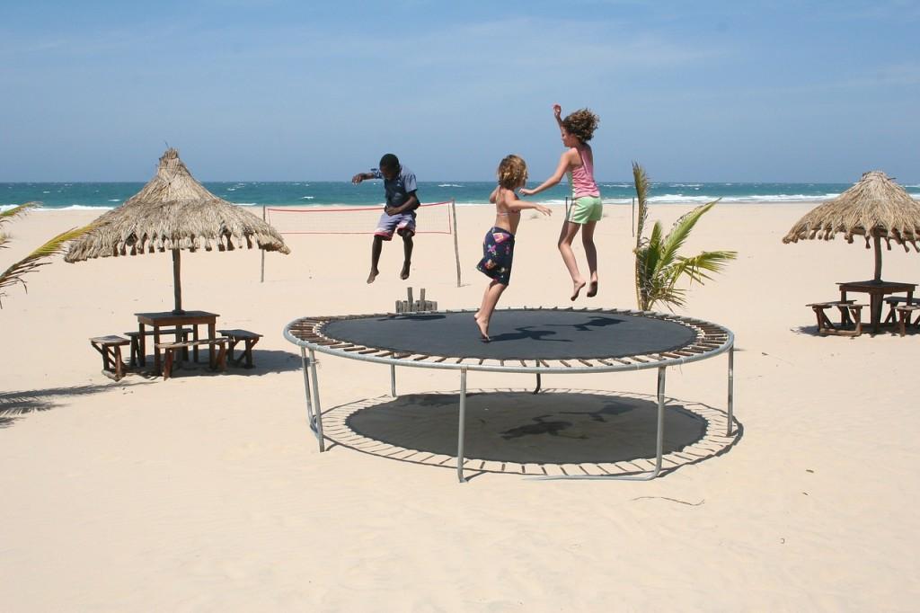 Trening na trampolinie